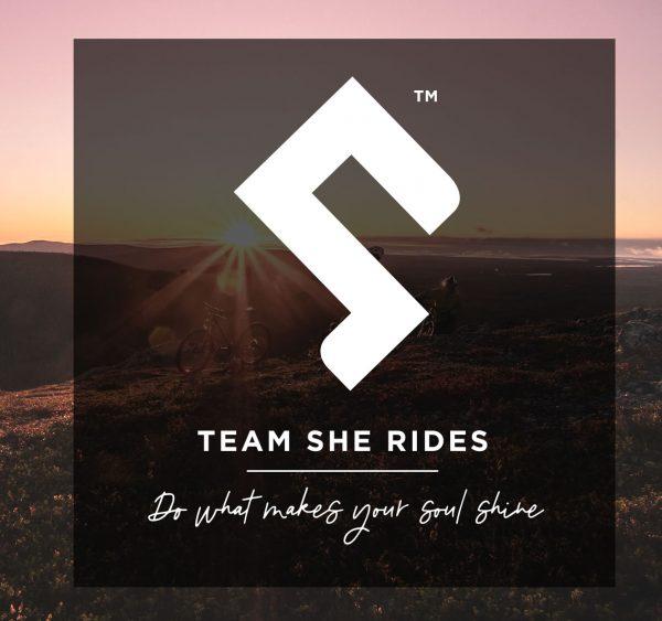 Team She Rides ny logga 2020